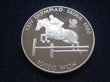 "MDS corea 10.000 won 1988 pp ""olimpiada seúl-Spring montar a caballo"", plata #16"