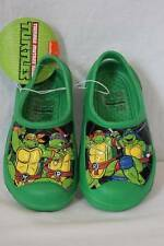 NEW Boys Green TMNT Large 2 - 3 Clogs Ninja Turtles Water Shoes Sandals