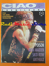 rivista CIAO 2001 13/1993 Poison Fish Gang Einsturzende Neubauten Skid Row No cd