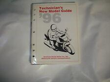 HONDA TECHNICIAN'S NEW MODEL GUIDE 1996 S1703 PART#MSS7176 (9512)