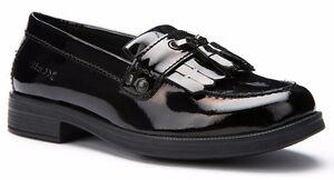 Geox JR Agata Black Patent Leather School Shoes
