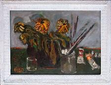 Gerhard Elsner 1930-2017: Künstlerstilleben im Atelier 1960 Öl  8 Ausstellungen