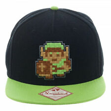 NINTENDO'S THE LEGEND OF ZELDA LINK 8-BIT BLACK & GREEN SNAPBACK CAP *NEW*