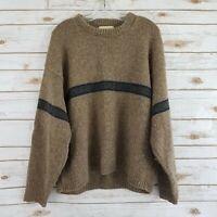Eddie Bauer Mens Size XL Vintage Sweater Wool Blend Long Sleeve Crew Neck USA