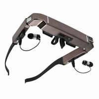 """80"""" Android 4.4 WiFi 3D VR Video Glasses 5MP HD Camera Bluetooth Private Theater"""