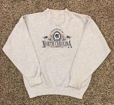 VTG University North Carolina Tar Heel Midwest Embroidery Mens L Sweatshirt NCAA