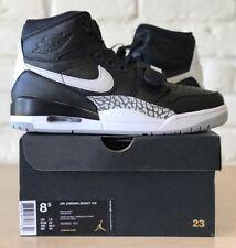 """Men's Nike Air Jordan Legacy 312 """"Black Cement"""" Black/White AV3922-001 size 8.5"""