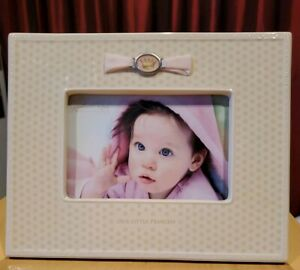 Grasslands Road - Little Majesty 4 x 6 Baby Princess Photo Frame Pink Ribbon-NEW