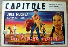 belgian poster western THE OKLAHOMAN, JOEL McCREA, BARBARA HALE, BRAD DEXTER