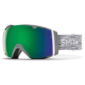 Smith Optics I/O  Ski Snowboard Goggles Cloud Grey with Green Mirror Auction