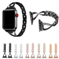 For Apple Watch Series 4/3/2/1 Women Stainless Steel Band Strap Bracelet 38/44MM