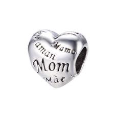 Charms charm compatibili Pandora Trollbeads - Mamma cuore Mom Mum 2018