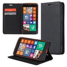 Custodia per Microsoft Lumia 650 Cover Case Portafoglio Wallet Etui Nero