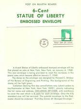 #U551 6c Liberty Envelope Poster - Unofficial Souvenir Page w/FDC