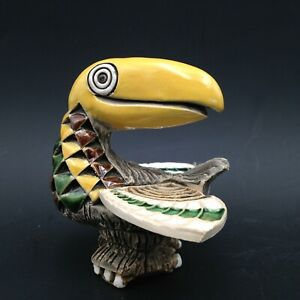 Retired AR Figurine Artesania Rinconada Art Pottery Uruguay Toucan Bird #24