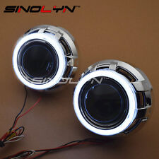 3.0 inch HID Bi-xenon Headlight Car Projector Lens W/ COB LED Angel Eyes Halo