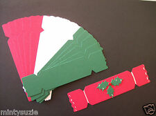 15 x CHRISTMAS CRACKER DIE CUTS red/white/green