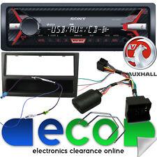 Vauxhall Corsa C SONY CD MP3 USB AUX Car Stereo Steering Wheel Kit & Black Facia