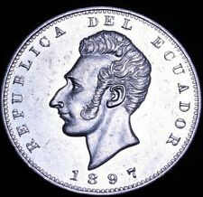 Ecuador: 1897 Un Sucre Lima Mint UNC ? Condition  53-710
