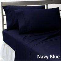 Comfort Duvet Collection 1000 TC Egyptian Cotton Navy Blue Solid AU Sizes