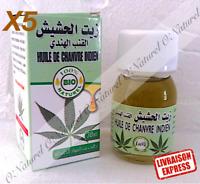 X5 Huile de Chanvre Indien BIO 100% Pur 30ml Indian Hemp Oil Aceite Cáñamo Indio