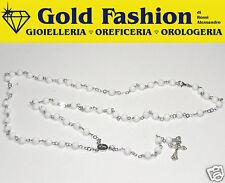 Rosario in argento tit. 925 e Agata bianca
