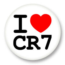 "Pin Button Badge Ø25mm 1"" ♥ I Love You j'aime Christiano Ronaldo CR7"