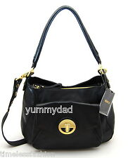 MIMCO MOLTEN HOBO LEATHER BAG IN BLACK WITH GOLD HARDWARE BNWT RRP$499