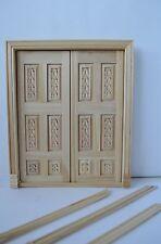 Dollhouse Miniature Custom Hand Carved 6026-B Double Interior Door