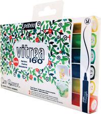 Pebeo Vitrea 160 Permanent Glass Paint Marker Pen Set of 6 SPRING Colours 1.2mm