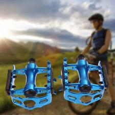 """1 Pair BMX MTB Aluminium Alloy Mountain Bicycle 9/16"""" Pedals Flat Platform"""