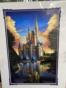 "Disney Festival of Arts Magical Reflection Greg McCullough 14""x18"" Print Epcot"