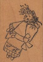goofy valentine girl imaginations Wood Mounted Rubber Stamp 1 1/2 x 2 1/2""