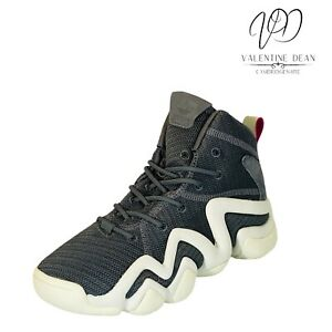 Adidas Originals Crazy 8 Adv Women's Trainers Grey Leather And Fabric Size 4 Uk