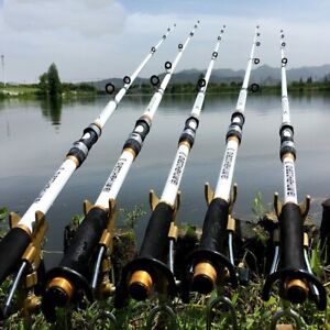 Fishing Rod Carbon Fiber Travel Pole Portable Spinning Telescopic Kastking Lure