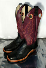 Brahma Vibram Style 4017, Women Western Cowgirl Boots, Leather, Size 10 C