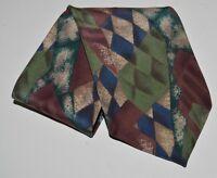 Silk Vintage Oscar De La Renta Couture Collection Geometric Neck Tie Multi Color