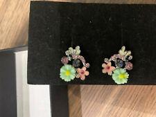 earrings for pierced ears pretty flower clustered flowered