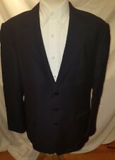 Ralph Lauren Purple Label 44 L Solid Black Blazer Jacket Men's
