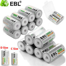EBL C D Size Cell NI-MH 1.2V Rechargeable Batteries High Capacity For Toy Radio