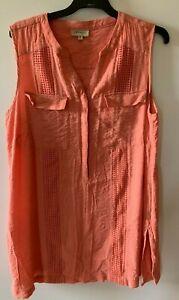 Ladies plus size 18 AUTOGRAPH  pink sleeveless tunic long top