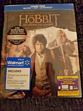 Hobbit: An Unexpected Journey Blu-Ray + DVD 64-Page Walmart Digibook New &Sealed