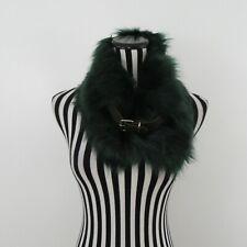 Green Belt Detail Faux Fur Scarf