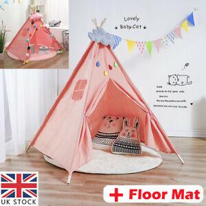 Large Children Indian Tent Canvas Teepee Wigwam Indoor Outdoor Kid Play House UK