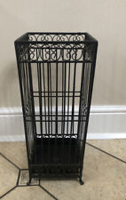 Vintage Metal Umbrella Stand With Removable Drip Tray Black