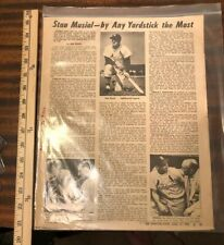 BEST STAN MUSIAL Article JOHN F Kennedy Ty Cobb 3000th hit Cooperstown photo HOF