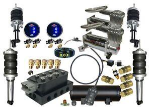 B Any Honda Civic Accord Front&Rear Air Suspension  digital gauges dual DC480