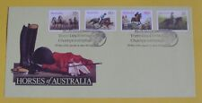 Australia Fdc 1986 Horses(4stamps) 6th World Three Day Event Gawler cachet