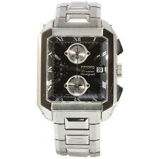 Seiko Premier SNA743 P1 Silver Black Dial Chronograph Alarm Men's Quartz Watch