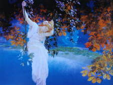 Lady on a Swing by Maxfield Parrish